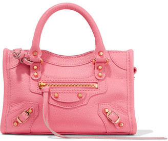 Balenciaga - Classic City Nano Texured-leather Shoulder Bag - Pink $1,145 thestylecure.com