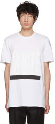 Neil Barrett White On White Graphic T-Shirt
