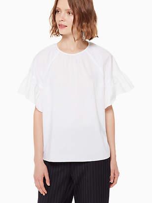 Kate Spade Poplin scallop shirt