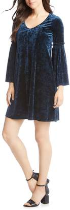 Karen Kane Bell Sleeve Velvet Dress