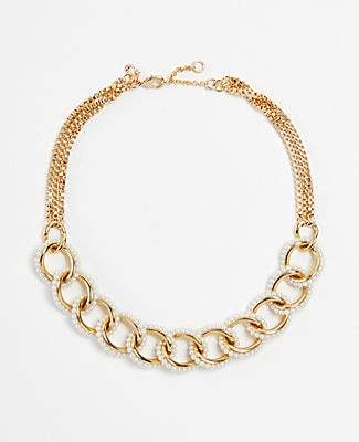 Ann Taylor Pearlized Link Necklace