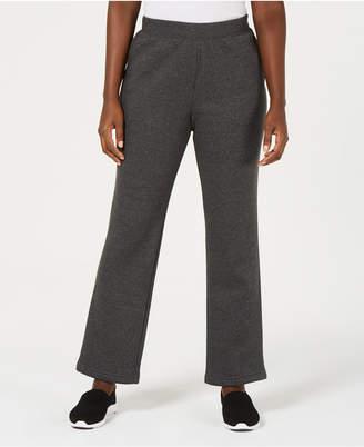 Karen Scott Side-Pocket Active Fleece Pants