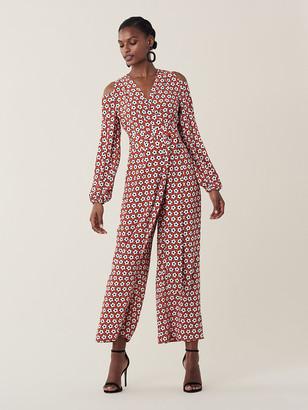 Diane von Furstenberg Ashlyn Silk Crepe De Chine Jumpsuit