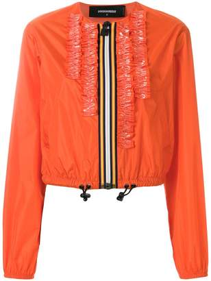 DSQUARED2 ruffle-trimmed jacket