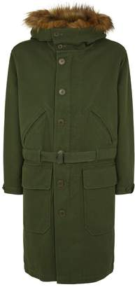 Burberry Double-Faced Hooded Parka with Warmer