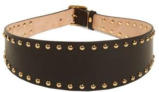 Alexander McQueen Stud Embellished Leather Waist Belt - Womens - Black