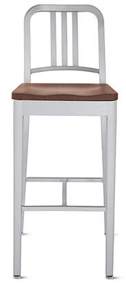 Design Within Reach 1006 Navy Barstool with Seat Pad