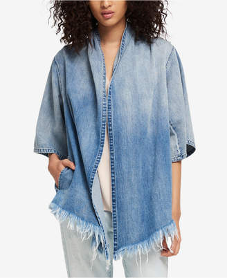 DKNY Cotton Draped Denim Jacket, Created for Macy's
