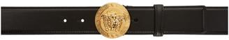 Versace Black Round Medusa Belt $450 thestylecure.com