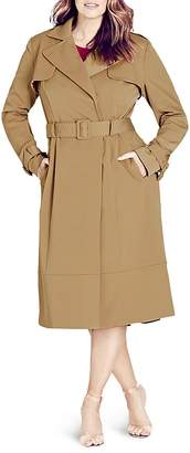 City Chic Classic Belted Trench Coat