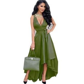 f8858809b9b ilovgirl Summer Dresses for Women deep v Neck hi-lo Sexy Party Evening Maxi  Casual