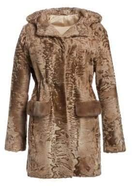 The Fur Salon Karakul Lamb& Mink Fur Jacket