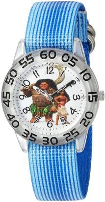 Disney Boy's 'Moana' Quartz Plastic and Nylon Casual Watch, Color: (Model: WDS000039)