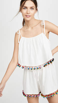 Madewell Tiered Tie Strap Romper