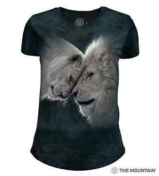 The Mountain White Lions Love Adult Woman's T-Shirt