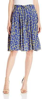 Lark & Ro Women's Tie-Front Full Skirt