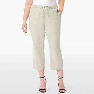 NYDJ Drawstring Ankle In Stretch Linen In Plus