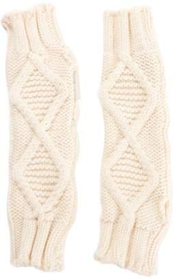 Moncler Ecru Wool Gloves