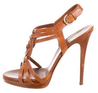 Casadei Leather High-Heel Sandals