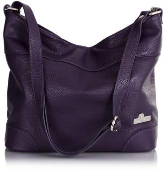 LiaTalia Womens Genuine Italian Leather Medium Size Hobo Shoulder Handbag - Jane []