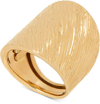 Macy's Textured Wide Band Statement Ring in 14k Gold