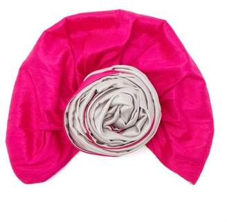 Julia Clancey - Bi Colour Silk Turban Hat - Womens - Pink