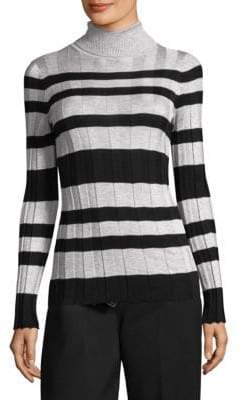 Derek Lam Rib Knit Stripe Turtleneck
