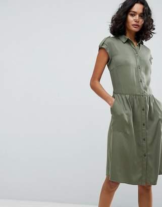 BOSS Casual Sleeveless Shirt Dress