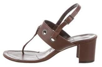 Manolo Blahnik Leather Thong Sandals