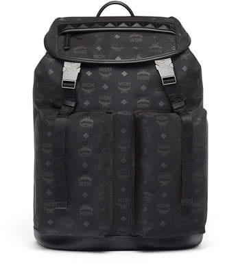 MCM Kreuzberg Backpack In Monogrammed Nylon