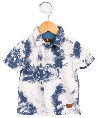 7 For All Mankind Seven Boys' Acid Wash Polo Shirt