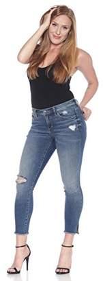 SLINK Jeans Women's Missy Caralyn Frayed Hem Crop