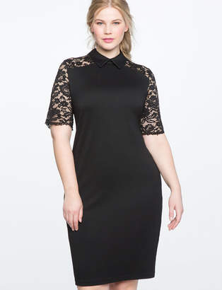 ELOQUII Lace Detail Sheath Dress
