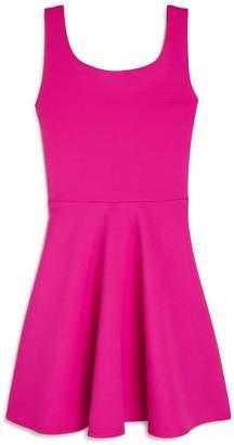 Sally Miller Girls' Christina Textured Crisscross-Back Dress
