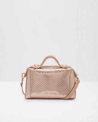 Pop handle leather mini tote bag $295 thestylecure.com