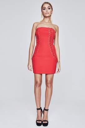 boohoo Premium Bodycon Lace Up Dress