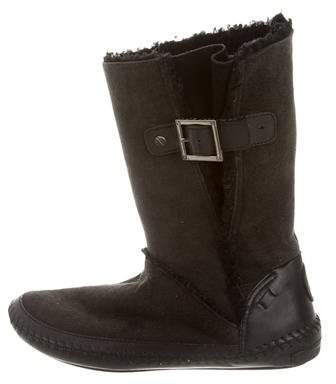 Tory BurchTory Burch Suede Mid-Calf Boots