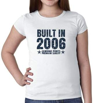 Hollywood Thread Built In 2006 - Perfect Birthday Present Gift - Vintage Girl's Cotton Youth T-Shirt