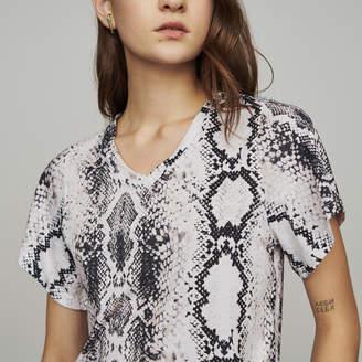 Maje Tee-shirtwith python print