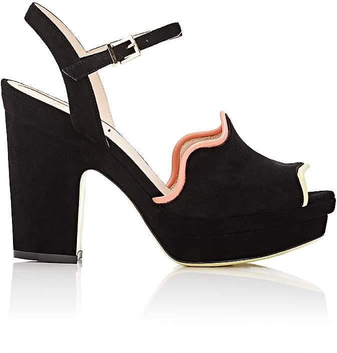Fendi Women's Wave Ankle-Strap Platform Sandals