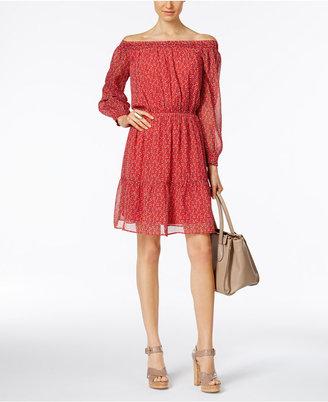 ECI Off-The-Shoulder Peasant Dress $70 thestylecure.com