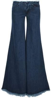 Marques Almeida Marques' Almeida Frayed Low-Rise Flared Jeans
