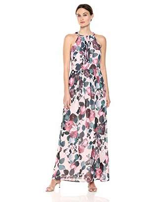 Nine West Women's Pleated Bodice Maxi Dress