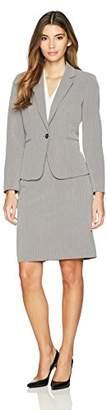 Tahari by Arthur S. Levine Women's Petite Pinstripe Skirt Suit