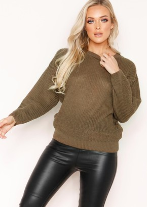 3413ade2d Missy Empire Missyempire Mysha Mocha Fishermans Knit Baggy Jumper