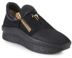 Giuseppe Zanotti Textured Slip-On Sneakers