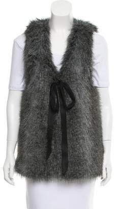 Vena Cava Faux Fur V-Neck Vest