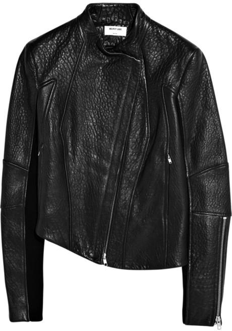 Helmut Lang Asymmetric leather jacket