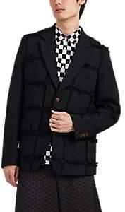 Comme des Garcons Men's Patchwork Two-Button Sportcoat - Black