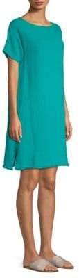 Eileen Fisher Bateau-Neckline Dress